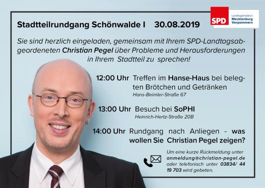 Einladung zum Stadtteilrundgang Schönwalde I